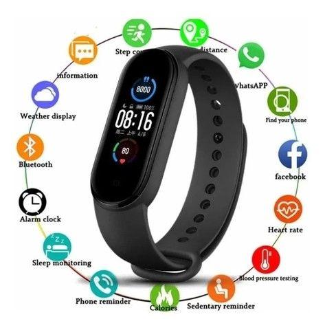 Pulseira Relógio Inteligente  Smartwatch M5 - Foto 4