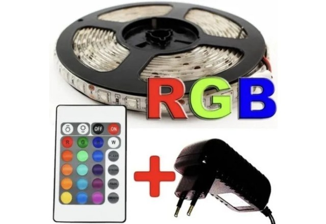 Fita led 5050 Colorida 16 cores c/ fonte