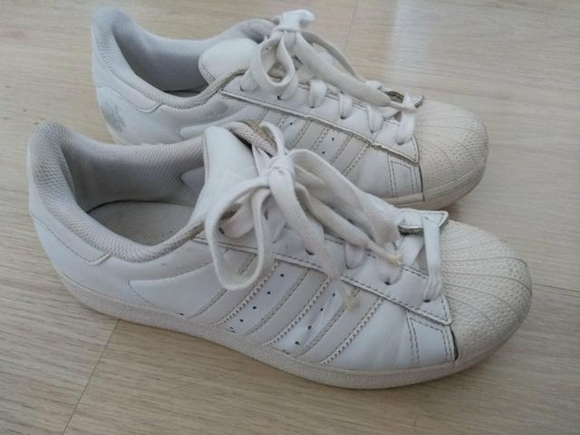 95878e04e01 Tênis Adidas original superstar número 34 couro - Roupas e calçados ...