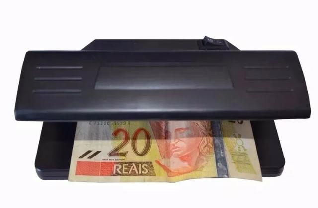 (NOVO) Identificador De Dinheiro Cheques E Documentos Falsos Luz Uv