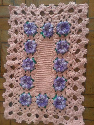 Lindos tapetes de Crochê, modelos diversos.