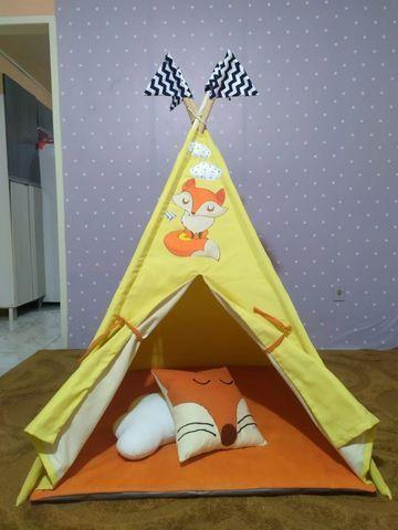 Cabana Infantil Barraca Tenda Com Colchonete - Foto 2