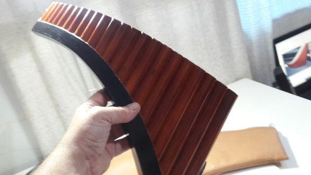 Flauta Pan Profissional Tenor 22 Tubos + Manual em CD! - Foto 4