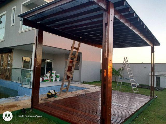 Caramachão ,assoalho ,piso em madeira a deck  - Foto 6