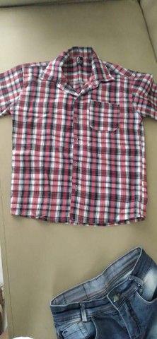 Camisa xadrez e calça infantil - Foto 3