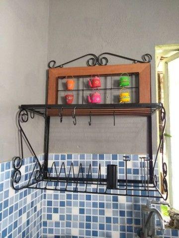 Escorredor e prateleira rústico vários tamanhos e temas  - Foto 6