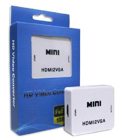 Mini Conversor de Vídeo HDMI para VGA - Foto 3