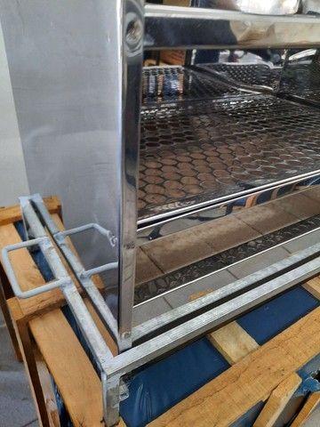 Churrasqueira de bancada em inox 2 grelhas 60x35 cm  - Foto 4