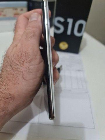 Samsung S10.    Super novo , caixa , carregador e nota fiscal .<br><br>8 gigas RAM<br><br>128 gigas - Foto 6