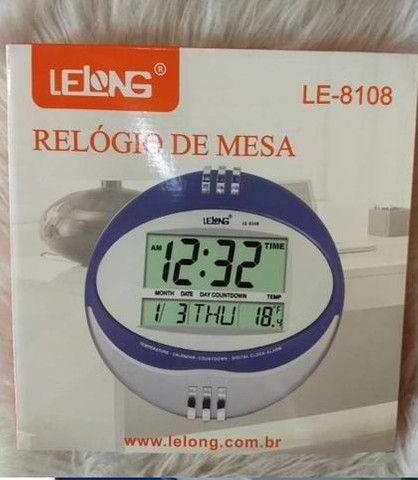 Relógio de Mesa e Parede Lelong - Foto 2