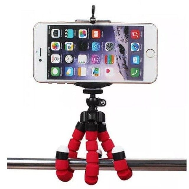 Tripé Para Celular Flexivel E Camera Vermelho - Foto 5