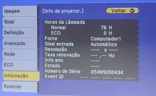 Datashow PowerLite X39 Epson (76 horas de uso) Novíssimo! - Foto 4