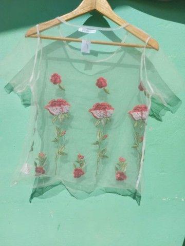 Blusa floral tule - Foto 2
