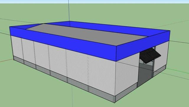 Estrutura metálica e pré-moldado