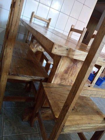 Mesa com 6 cadeiras rustica - Foto 4