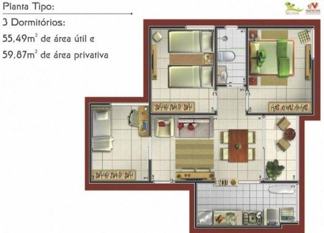 Ótimo apartamento de 2 quartos situado no Condomínio Bela Vista, - Foto 11