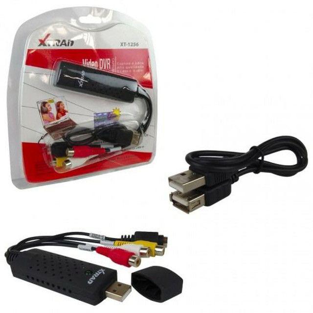 Placa de captura de vídeo e áudio USB 2.0  - Foto 2