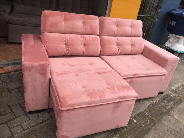 Sofá retrátil reclinável de todas as cores e tecidos! - Foto 5
