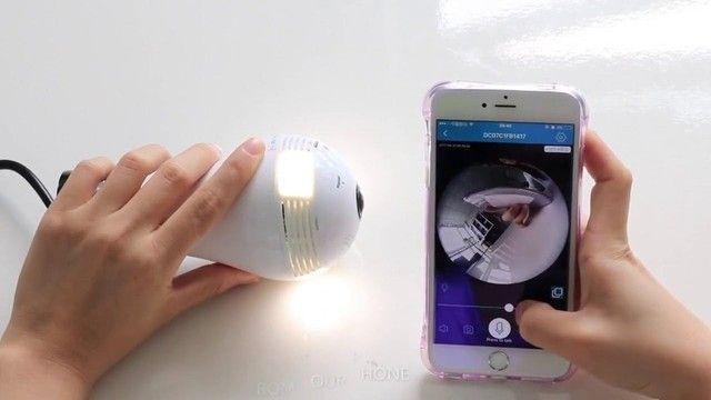 Super Câmera Lâmpada 3D Inteligente 360º - Foto 6