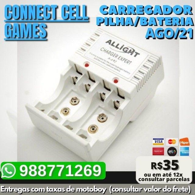 Carregador P/ Pilha Recarregavel Aa/ Aaa/ Bateria 9v Bivolt - Foto 5