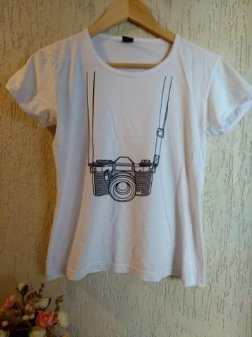 Camiseta Câmera Fotográfica