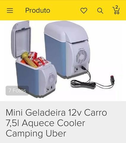 Mini geladeira portátil - 2 em 1 Esfria e Aquece