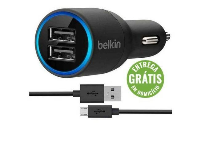 Carregador Veicular Belkin Dual Usb Android - entrega grátis