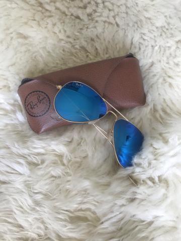 8b7802412 Óculos RayBan Aviador Espelhado Original - Bijouterias, relógios e ...