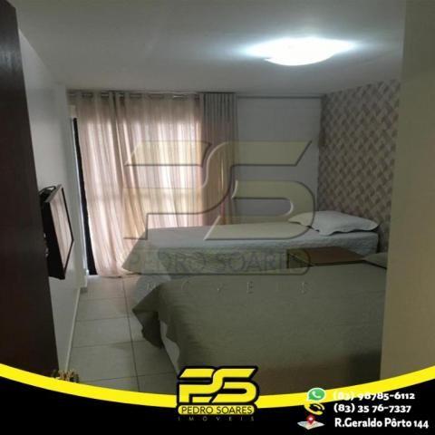 Flat com 1 dormitório para alugar, 1 m² por R$ 2.200,00/mês - Tambaú - João Pessoa/PB - Foto 2