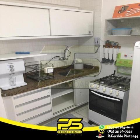 Flat com 1 dormitório para alugar, 1 m² por R$ 2.200,00/mês - Tambaú - João Pessoa/PB - Foto 9