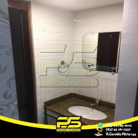 Flat com 1 dormitório para alugar, 1 m² por R$ 2.200,00/mês - Tambaú - João Pessoa/PB - Foto 13