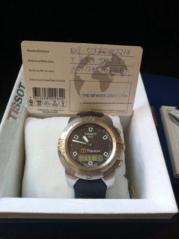 Relógio Tissot T-touch-ref. T33.1.598.51 /modelo: Z 252/352 - Foto 3