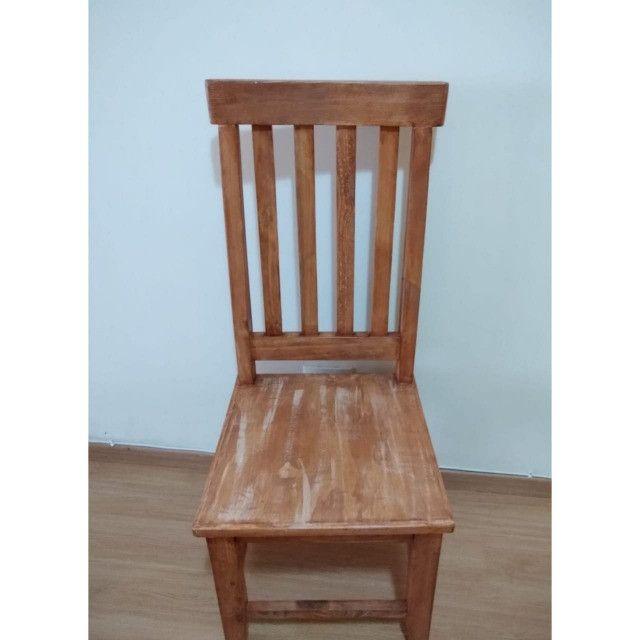 Kit com 6 Cadeiras de Madeira maciça 1,10cm - Foto 2