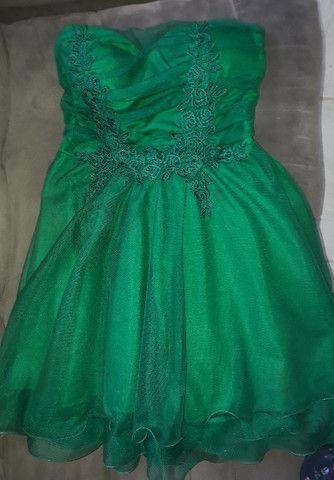 Vestido de festa verde  - Foto 3