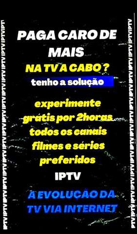 Sua tv via internet