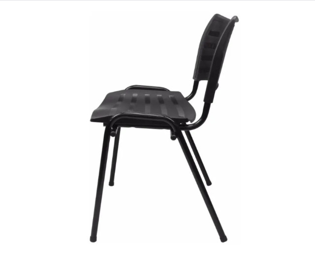 Cadeira Secretária em Polipropileno Preta - Foto 2