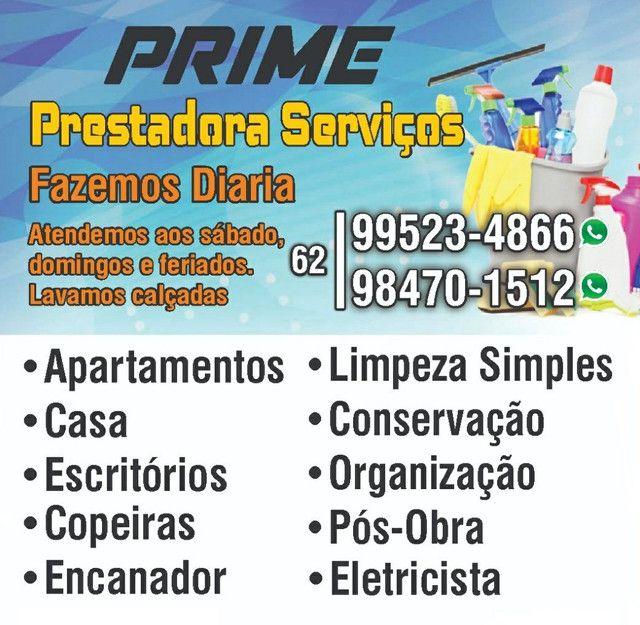 Prime Prestadora - Diarista/Limpeza/PosObra/Copeira/Encanador/Eletrisista