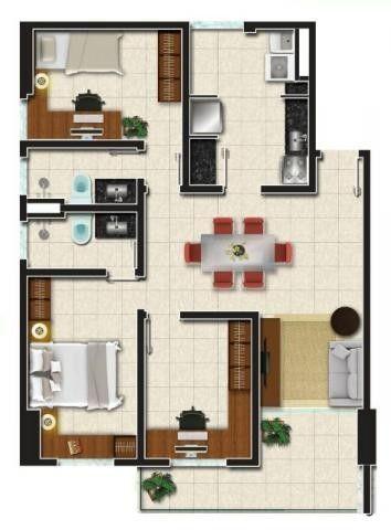 Apartamento em Jacarecanga, Fortaleza/CE de 71m² 3 quartos à venda por R$ 300.000,00 - Foto 5