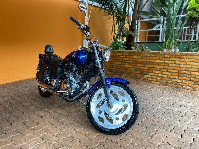 Moto Sundown V Blade Custom 2008 cheia de acessórios, apenas 3.000 Km!  - Foto 3