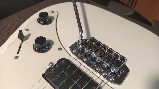 Guitarra Ibanez Grx40 HSS Branco Perolizado Captador Dimarzio Evolution - Foto 5