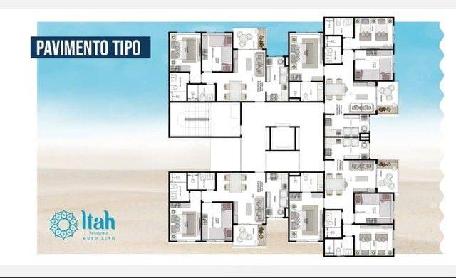 Flat com 2 dormitórios à venda, 56 m², térreo por R$ 630.000 - Praia Muro Alto, piscinas n - Foto 10