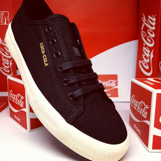 Tênis Coca-Cola apollo preto - Foto 3