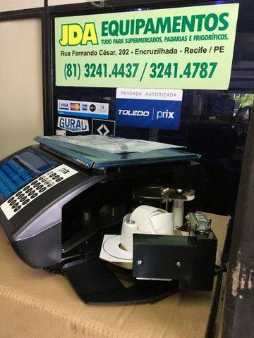 Balança digital com impressora código de barra - toledo - prix uno - supermercado  - Foto 3