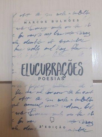 """Usado: Livro """"Elucubrações: Poesias"""", de Marcos Bulhões, Autografado"""