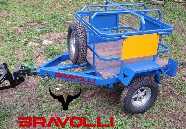 Carretinha Bravura e Força na Tração BRAVOLLI  - Foto 6