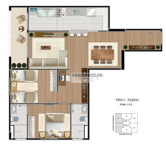 Apartamento à venda, 73 m² por R$ 287.898,00 - Jardim Anhembi - São José dos Campos/SP