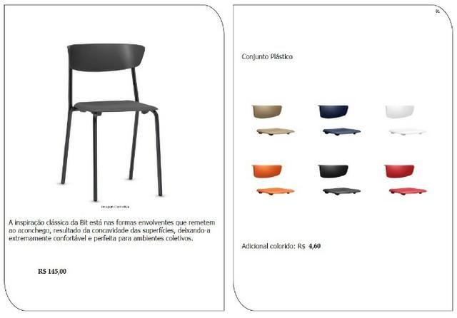 Cadeiras de escritório, linha office, praça alimentação, cadeira - Foto 3