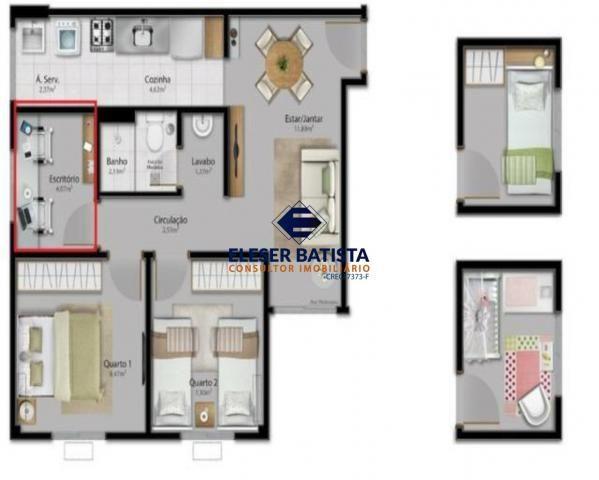 Apartamento à venda com 3 dormitórios em Condomínio vista limoeiro, Serra cod:AP00071 - Foto 19