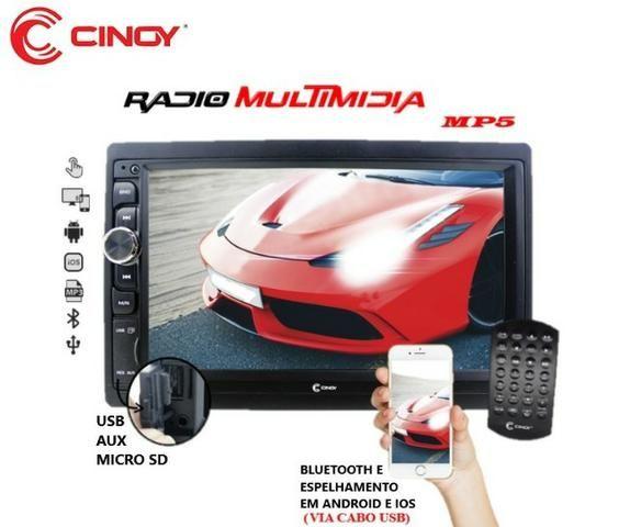 "Central Multimidia Mp5 12x Sem Juros 7"" Radio Bluetooth Espelhamento Ios Android Usb Sd - Foto 2"