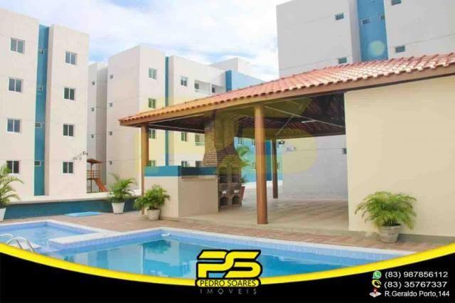 Apartamento novo, 02 quartos, piscina, churrasqueira, espaço gourmet, playground, 45,80m²  - Foto 4